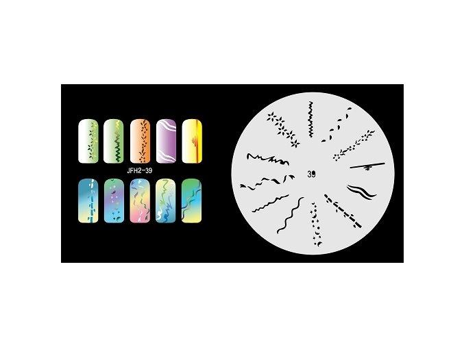 Šablona na nechty (airbrush nail art) Fengda  JFH02-039
