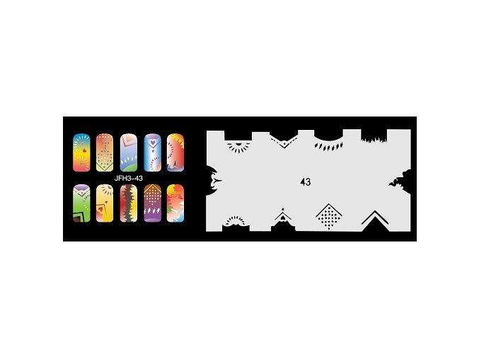Šablona na nechty (airbrush nail art) Fengda  JFH03-043