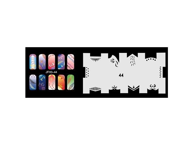 Šablona na nechty (airbrush nail art) Fengda  JFH03-044