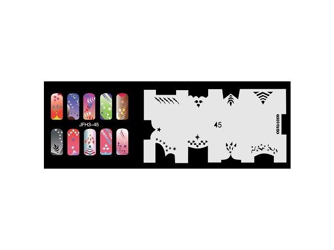 Šablona na nechty (airbrush nail art) Fengda  JFH03-045