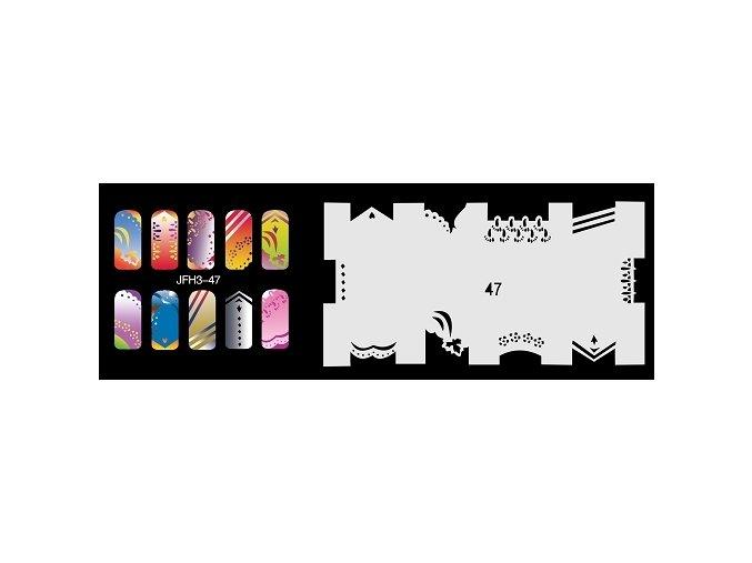 Šablona na nechty (airbrush nail art) Fengda  JFH03-047