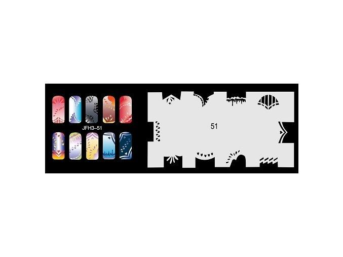 Šablona na nechty (airbrush nail art) Fengda  JFH03-051