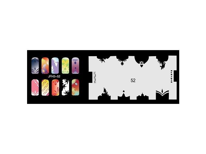 Šablona na nechty (airbrush nail art) Fengda  JFH03-052