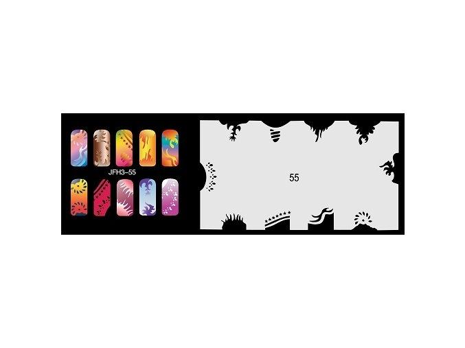 Šablona na nechty (airbrush nail art) Fengda  JFH03-055