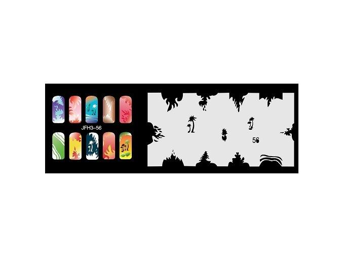 Šablona na nechty (airbrush nail art) Fengda  JFH03-056