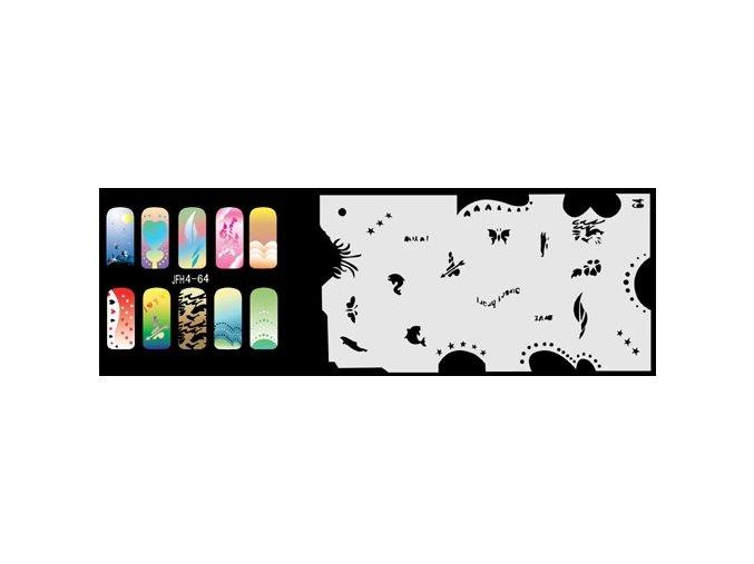 Šablona na nechty (airbrush nail art) Fengda JFH04-064