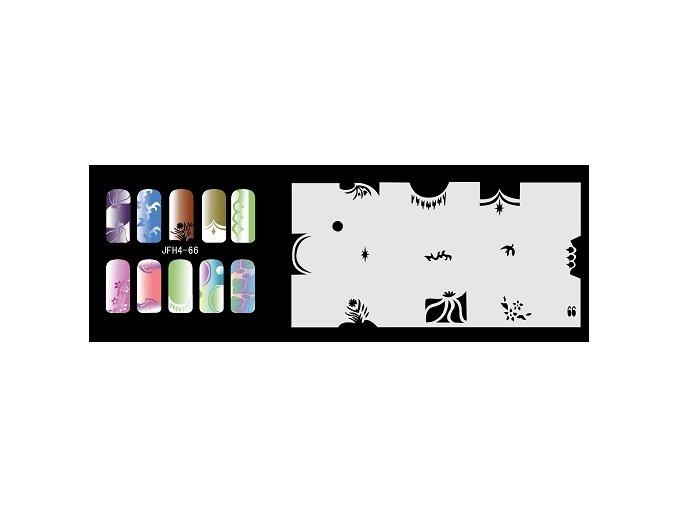 Šablona na nechty (airbrush nail art) Fengda  JFH04-066
