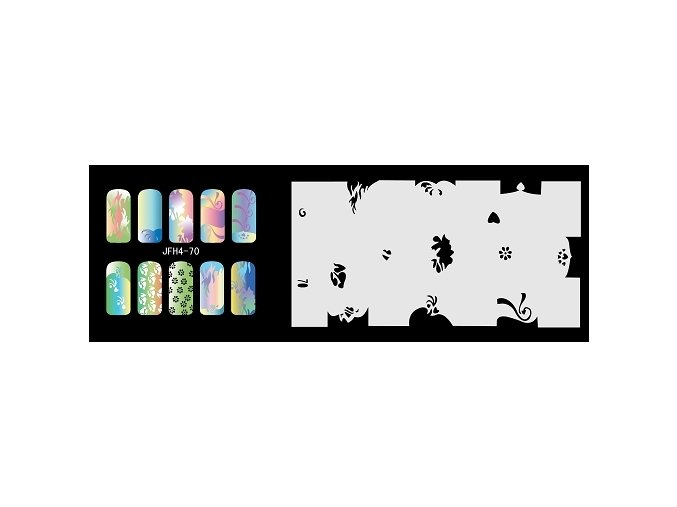Šablona na nechty (airbrush nail art) Fengda  JFH04-070