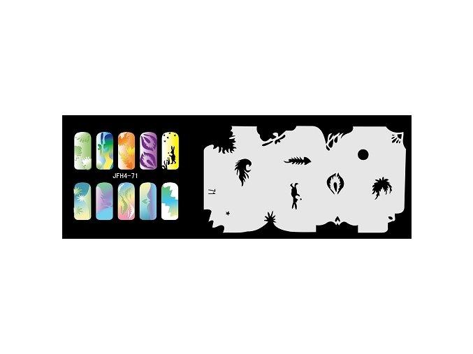 Šablona na nechty (airbrush nail art) Fengda  JFH04-071