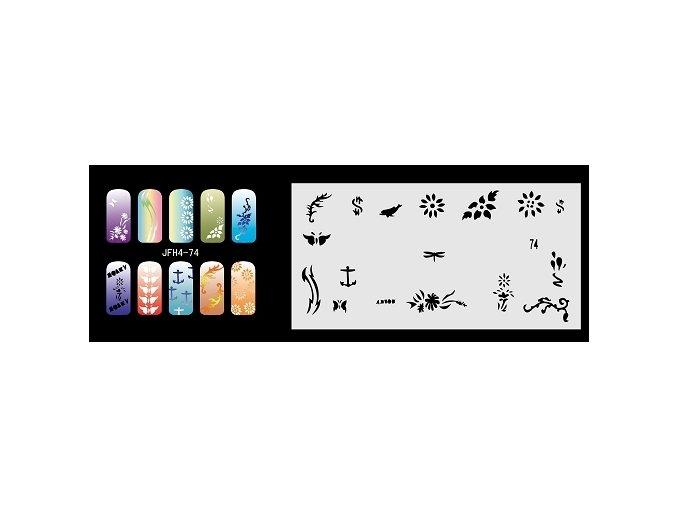 Šablona na nechty (airbrush nail art) Fengda  JFH04-074