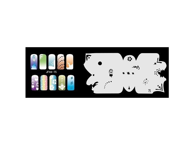 Šablona na nechty (airbrush nail art) Fengda  JFH04-075