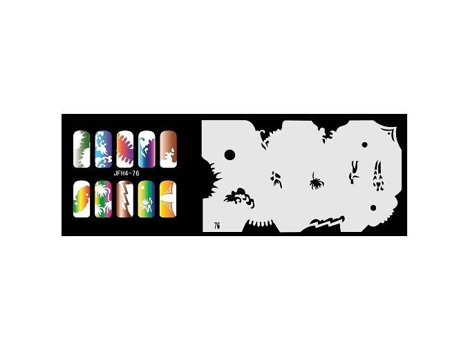 Šablona na nechty (airbrush nail art) Fengda  JFH04-076