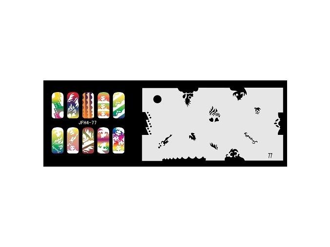 Šablona na nechty (airbrush nail art) Fengda  JFH04-077