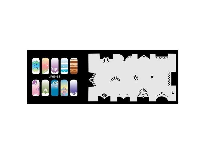 Šablona na nechty (airbrush nail art) Fengda  JFH05-082