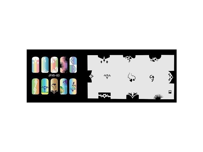 Šablona na nechty (airbrush nail art) Fengda  JFH05-083