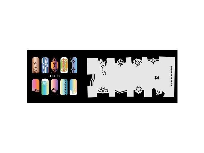 Šablona na nechty (airbrush nail art) Fengda  JFH05-084