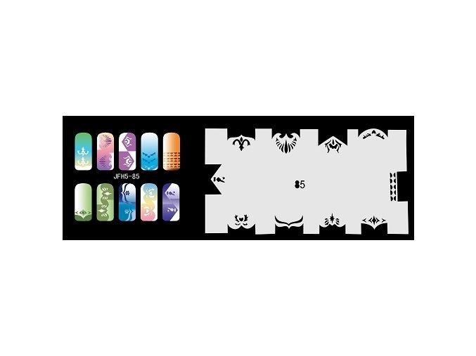 Šablona na nechty (airbrush nail art) Fengda  JFH05-085