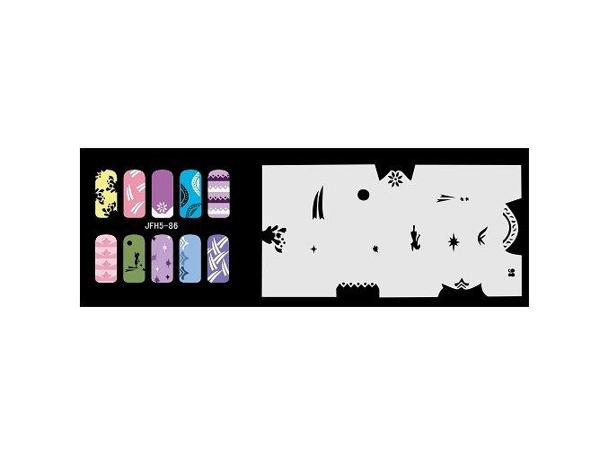 Šablona na nechty (airbrush nail art) Fengda  JFH05-086