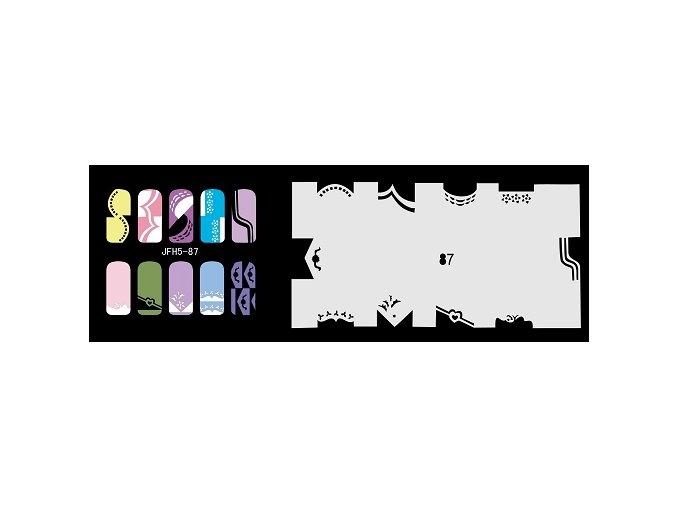 Šablona na nechty (airbrush nail art) Fengda  JFH05-087