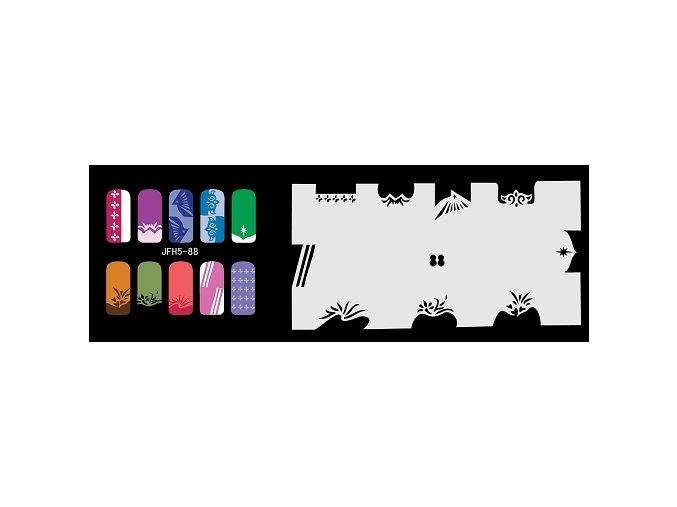 Šablona na nechty (airbrush nail art) Fengda  JFH05-088