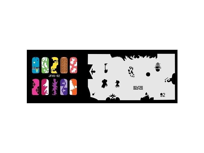 Šablona na nechty (airbrush nail art) Fengda  JFH05-092