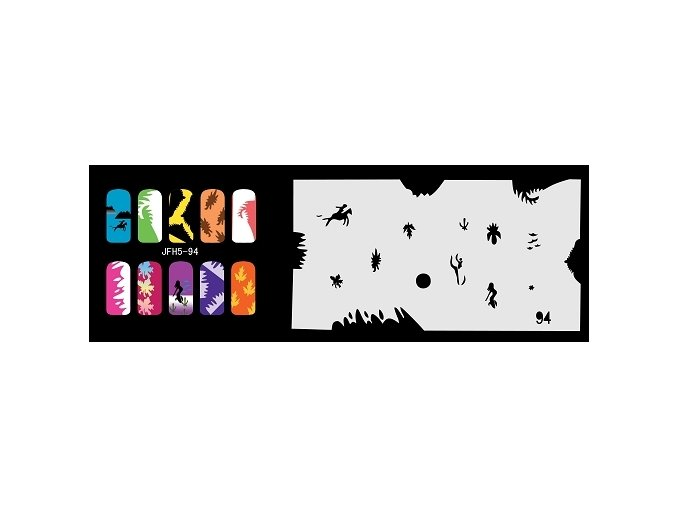 Šablona na nechty (airbrush nail art) Fengda  JFH05-094