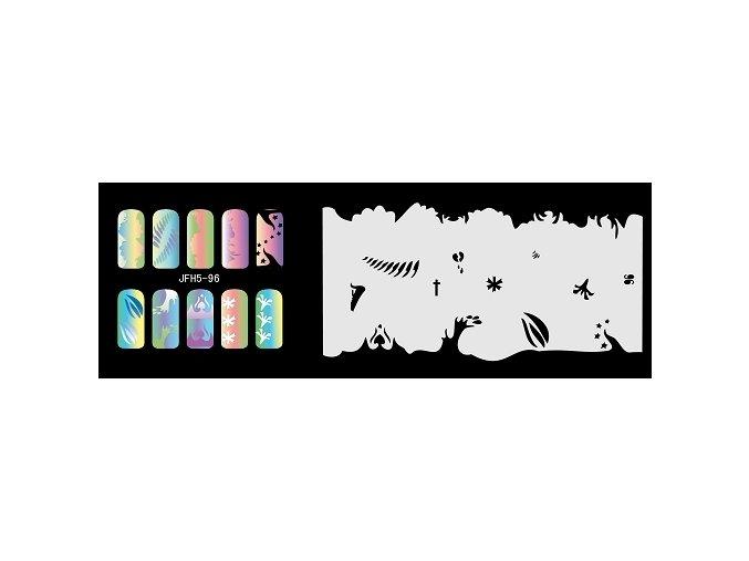 Šablona na nechty (airbrush nail art) Fengda  JFH05-096