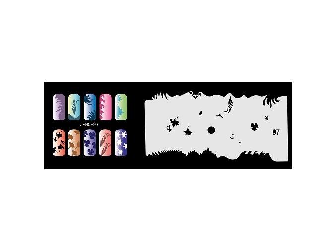 Šablona na nechty (airbrush nail art) Fengda  JFH05-097