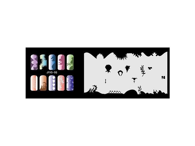 Šablona na nechty (airbrush nail art) Fengda  JFH05-098