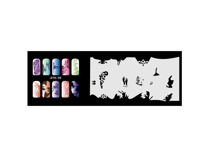 Šablona na nechty (airbrush nail art) Fengda  JFH05-099