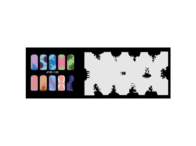 Šablona na nechty (airbrush nail art) Fengda  JFH05-100