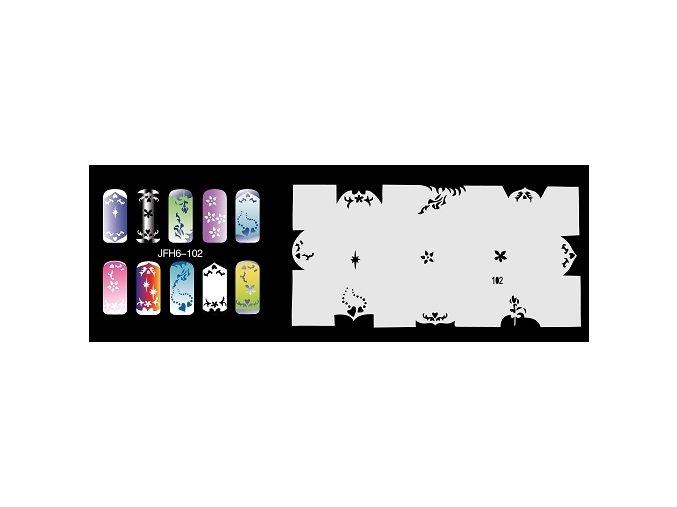 Šablona na nechty (airbrush nail art) Fengda  JFH06-102