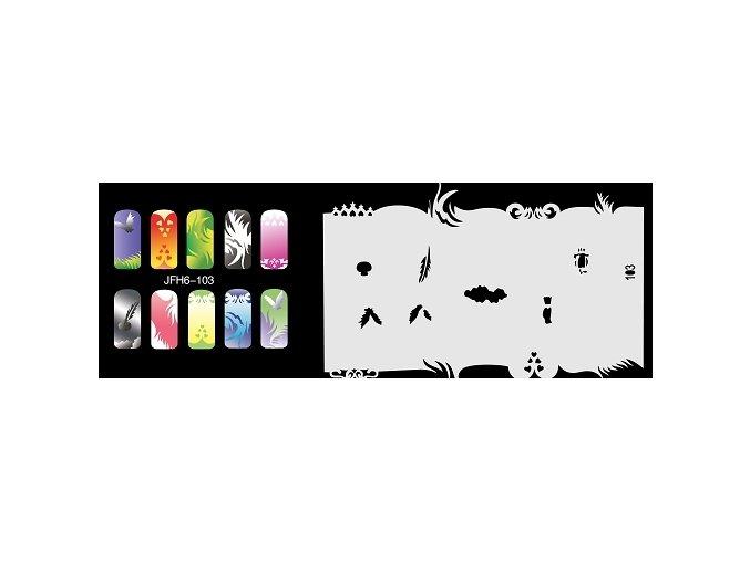 Šablona na nechty (airbrush nail art) Fengda  JFH06-103