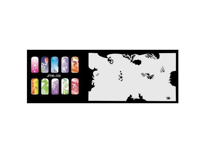 Šablona na nechty (airbrush nail art) Fengda  JFH06-104