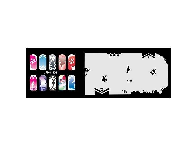 Šablona na nechty (airbrush nail art) Fengda  JFH06-105