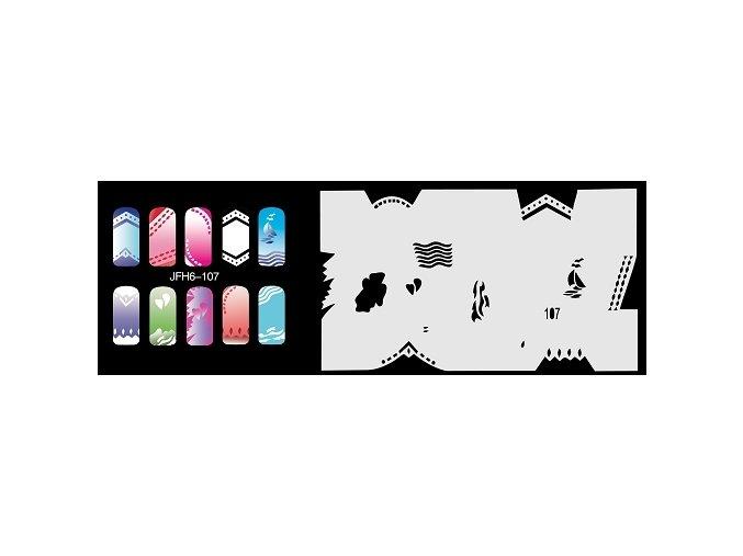 Šablona na nechty (airbrush nail art) Fengda  JFH06-107