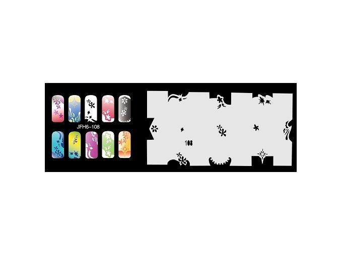 Šablona na nechty (airbrush nail art) Fengda  JFH06-108