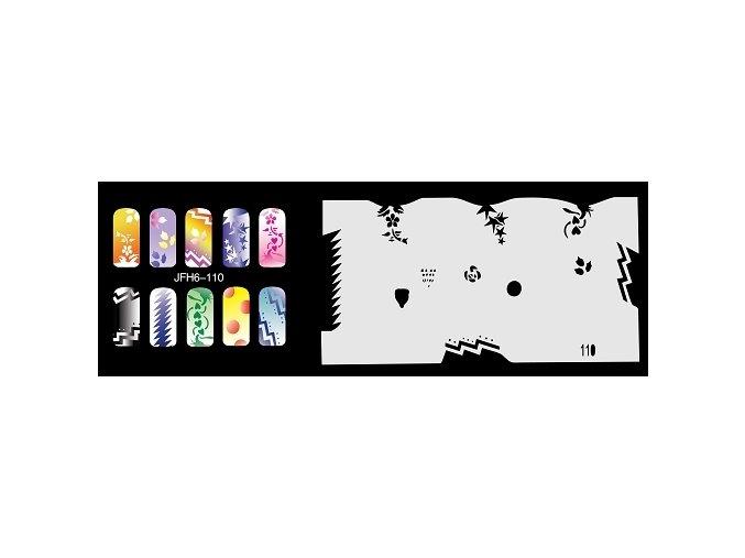 Šablona na nechty (airbrush nail art) Fengda  JFH06-110