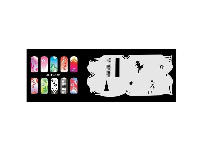 Šablona na nechty (airbrush nail art) Fengda  JFH06-112