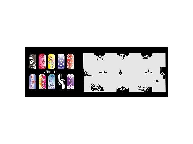 Šablona na nechty (airbrush nail art) Fengda  JFH06-114