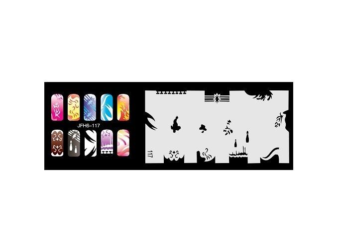 Šablona na nechty (airbrush nail art) Fengda  JFH06-117