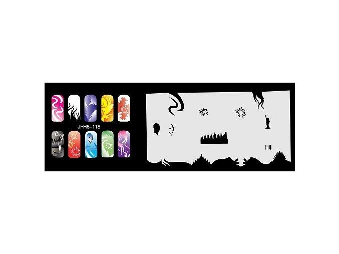 Šablona na nechty (airbrush nail art) Fengda  JFH06-118