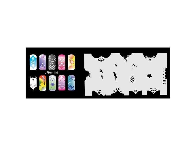 Šablona na nechty (airbrush nail art) Fengda  JFH06-119