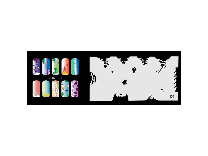 Šablona na nechty (airbrush nail art) Fengda  JFH07-121