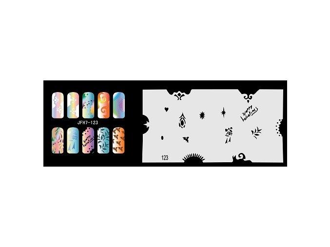 Šablona na nechty (airbrush nail art) Fengda  JFH07-123