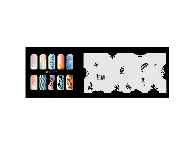 Šablona na nechty (airbrush nail art) Fengda  JFH07-124