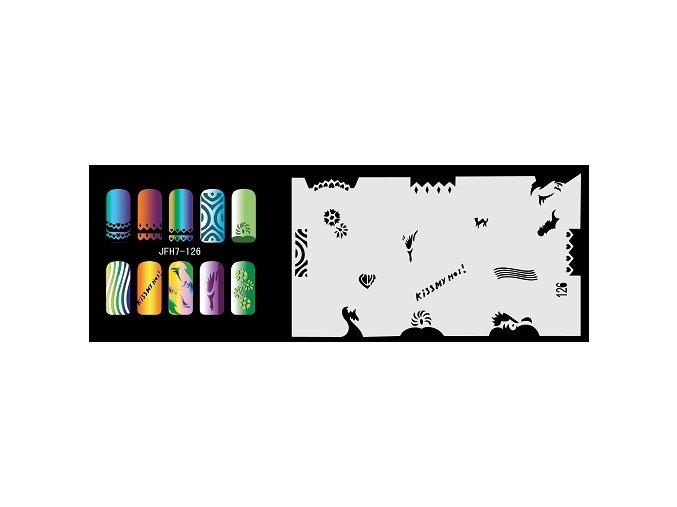 Šablona na nechty (airbrush nail art) Fengda  JFH07-126