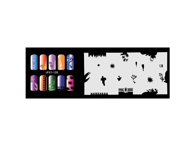 Šablona na nechty (airbrush nail art) Fengda  JFH07-128