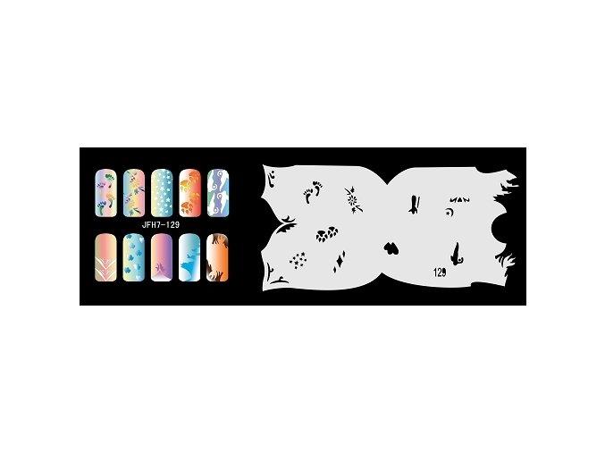 Šablona na nechty (airbrush nail art) Fengda  JFH07-129