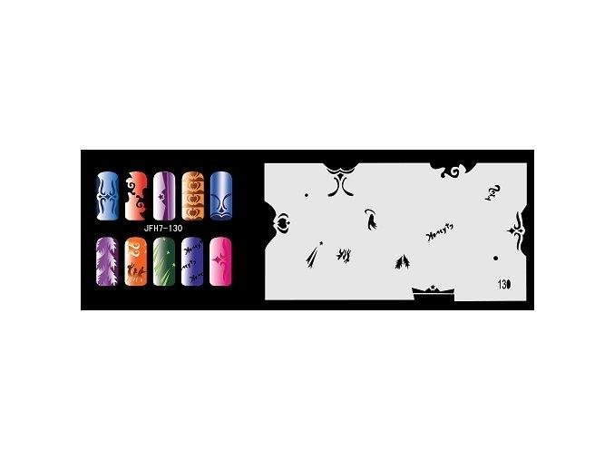 Šablona na nechty (airbrush nail art) Fengda  JFH07-130